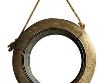 "19"" Galvanized Metal Tire Swing Create Farmhouse Style Wreaths Garden WIndow Florals"