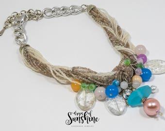 Tropical colours necklace