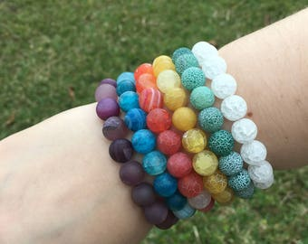Pure Agate Bracelet Collection | Grounding | Healing | Yoga | Harmony | Self-Confidence | Heart