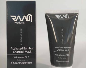 Purifying 3 in 1 Activated Bamboo Charcoal Mask with Vitamin C & E
