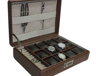 Handmade 12 watches box and rosary and ring Encrypted Box, Watches Bag