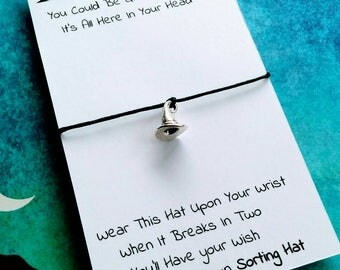 Harry Potter Charm Bracelet, Sorting Hat Wish Bracelet