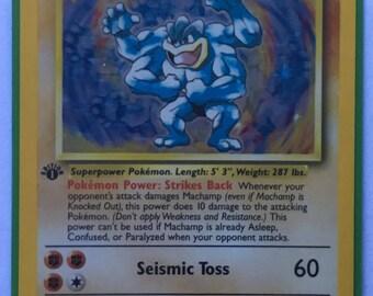 Pokemon Card Machamp First Edition Rare Holographic 8/102