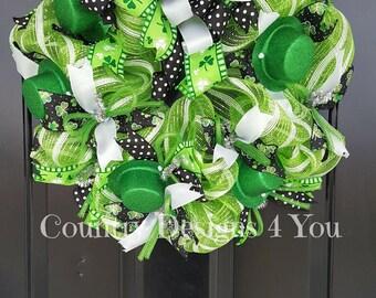 St Patricks Day Wreath, St Patricks Day Decor, St Patricks Day Wreath for Front Door, St. Patrick's Day Wreath, St Patrick's Day Decoration