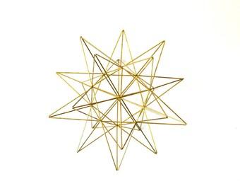 Décor de molécule en laiton, laiton Himmeli Home Decor, Himmeli Star, ornement géométrique, Decor de Table basse, parfait cadeau maison