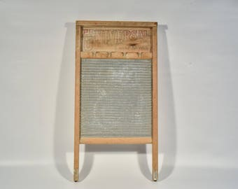 Antique Universal Washboard No. 134, National Washboard Co., Vintage Washboard, Rustic Home Decor, Country Home, Made in Chicago