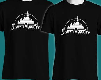 We Are Just Married - Wedding Anniversary Idea | Couple Tee | B24 | Custom Family T-Shirt