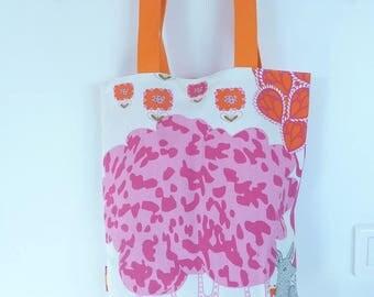Tote Bag pink and orange
