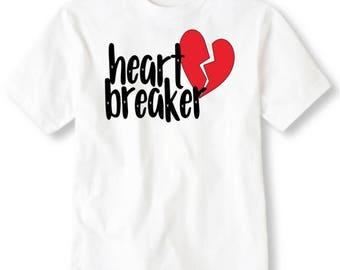 Kid's Heart Breaker Valentines Day T-shirt