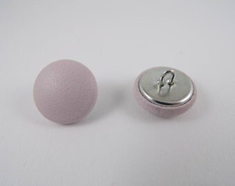 grained leather purple 20mm-6 covered buttons