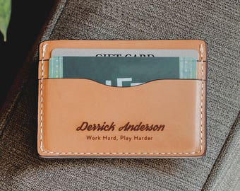 Veg Tan Wallet, Credit Card Wallet For Men, Slim Men's Leather Wallet, Personalized