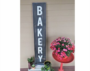 Bakery Sign. Bakery Kitchen Sign. Farmhouse Kitchen Sign. Farmhouse Decor. Kitchen Decor. Vertical Bakery Sign. Rustic Kitchen Decor.