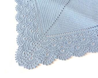 Crochet baby blanket, Organic Baby Blanket, Baby Boy Blanket, Lace Baby Blanket, Cotton Baby Blanket, Shower Gifts, Photo Prop