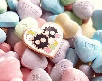 Soot Valentine Pin | Ghibli Inspired | Spring Enamel Pin