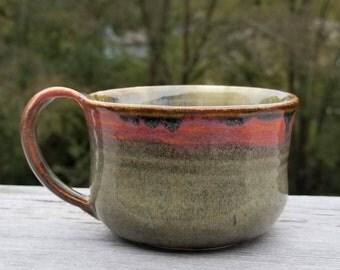 Ceramic Pottery Mug; Mug; Small Mug; Pottery Mug; Coffee Mug; Tea Cup; Coffee Cup; Pottery; Cup; Green Mug; Demitasse; Gift; Christmas