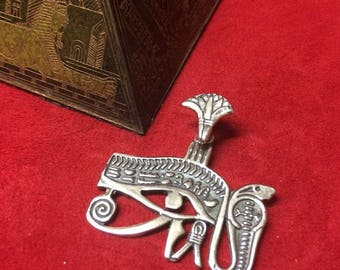 Eye of HORUS pendant 3 cm. Sterling Silver 925
