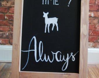 Hand Drawn Harry Potter Wedding Chalkboard A-Frame Sign | Wedding, Party | Wedding Signs | Harry Potter Sign | Wedding Chalkboard Sign