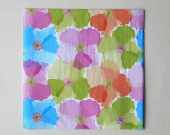 """2 """"hodge podge of flowers"""" paper towels 33 x 33 cm"""