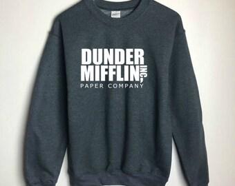 The Office Dunder Mifflin Sweatshirt Grey - The Office TV Show Gifts - The Office Sweatshirt - Dwight Schrute Farms Tshirt - Dunder Mifflin