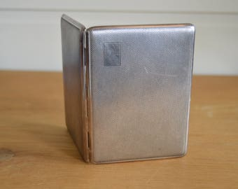 Han Bro Cigarette Case, EPNS Silver Cigarette Tin, Art Deco Slimline Cigarette Case, Card Case, Cigarette Holder, Cigarette Box, Cigarettes