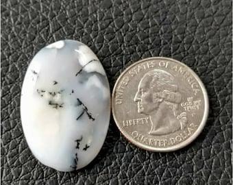 32.55x22.10 mm Ovel Shape Dendritic Opal Cobochon/ AAA Dendritic Agate Cabochon /Merlinite Cabochon/ wire wrap stone/Super Shiny/ Cabochon