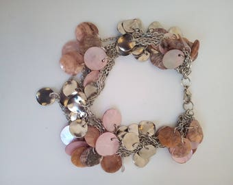 Adjustable chain bracelet with sequins