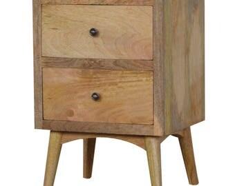 Rustic Oak Bedside Table