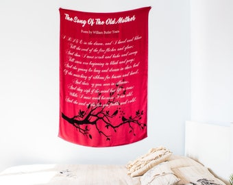 Red Poem for Mothers Silk Scarf (GREAT GIFT)