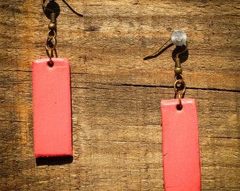 Miranda Bubblegum Earrings | Leather Earrings | Birthday Gift | Anniversary | Gifts under 25 | Handmade | Gifts for Her