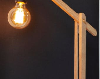 medium wooden architect lamp