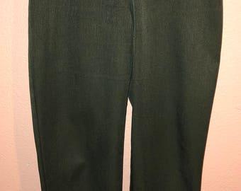 Vintage Olive Green Highwaist Slacks