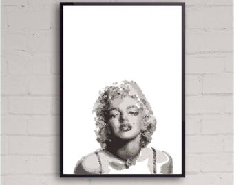 Marylin Monroe | Printable Wall Art Design | Room Decor | Instant Download | Various Sizes | Contemporary Art