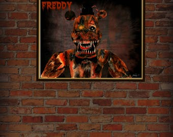 Five nights at freddy's Nightmare Freddy 8.5x 11 (downloadable Print)