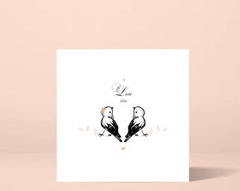 I Love You Greeting Card, Love Card Boyfriend/Girlfriend/Friend/Anniversary/Wedding/Valentines Day,