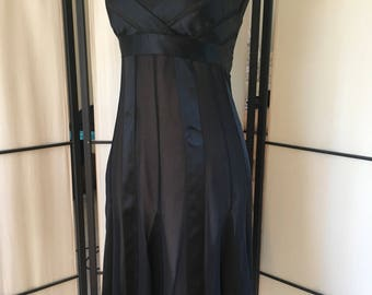 Vintage BCBG MAXAZRIA Chiffon and Satin Dress Size 2