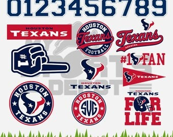 HOUSTON TEXANS Files, Houston Texans svg, Texans Emblem, Football Cutting Files, Layered Vectors, 6 Formats Included - MSD-24
