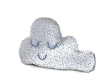 Gray cloud pillow
