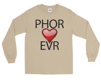 Phor Heart Evr Spartees distressed unisex Long Sleeve T-Shirt