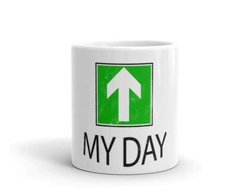 My Day Upper Spartees distressed White Mug