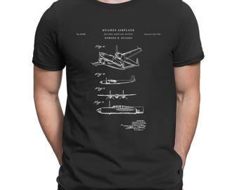 XP-58 Chain Lightning Airplane Patent T Shirt, Aviation Gift, Plane Shirt, Airplane T-shirt P83