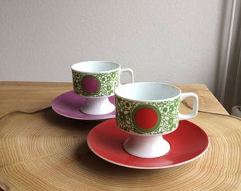 Cup and Saucer (2x)-Eschenbach Bavaria Germany