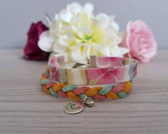 "Bracelet ""liberty braid & rhinestones"""