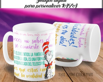 sublimating template Dr. Seuus JPG sublimation Cup for customize mug