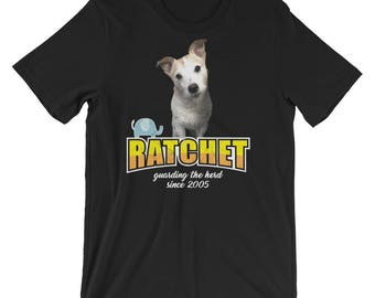 Ratchit Wood Cute Jack Russell Terrier T-Shirt UNISEX Jack Russell Terrier Fan Group Merchandising Gift