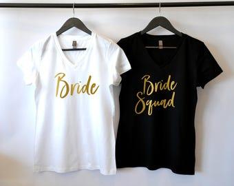 Bride Squad Shirts, Bridesmaid Shirts, Bridal Party Tanks, Bachelorette Party Shirts, Bridesmaid Gift, Bride Squad Tank Tops, Bride Shirt