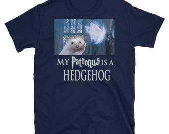 Hedgehog Unisex T-Shirt: My Patronus Is A Hedgehog Harry Potter Funny Hedgehog Gift