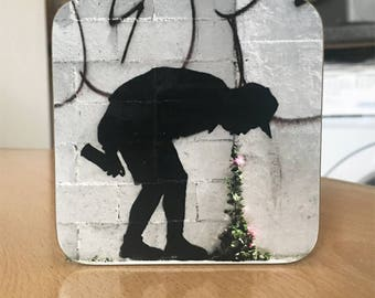 Banksy Coaster #59 - Banksy Gift - Banksy Coaster - Custom Coaster -Gift for Her - Gift For Him - Fridge Magnets - Banksy Magnet - Souvenir