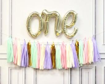 ONE cursive balloon - ONE Balloon decoration - First Birthday cursive Balloon - ONE Balloon