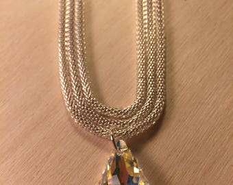 Sterling chain and Swarovski Crystal