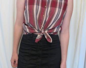 Vintage WRANGLER check sleeveless button up shirt